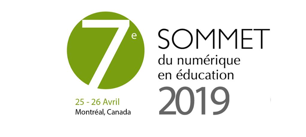 Sommet du numérique en éducation en 2019