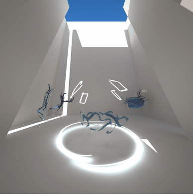 Oeuvre en réalité virtuelle – Artiste : Samuel Arsenault-Brassard