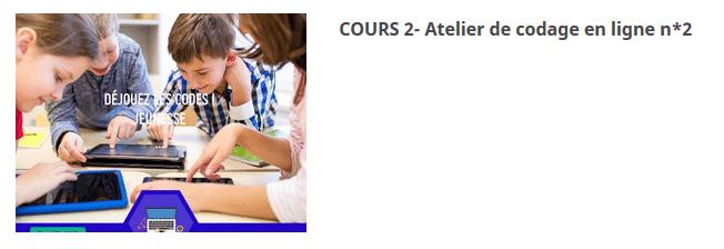 COURS 2- Atelier de codage en ligne n*2