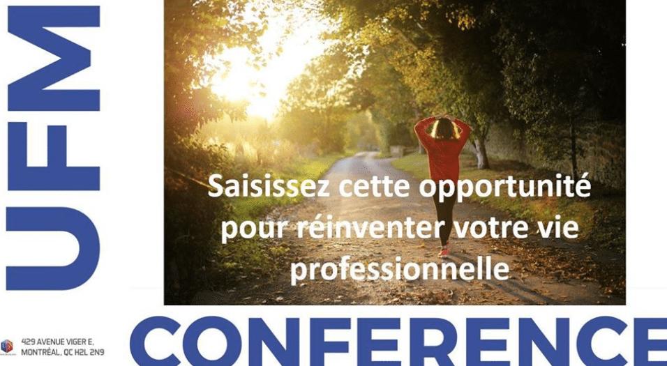 Conférence en ligne: réinventer votre vie professionnelle