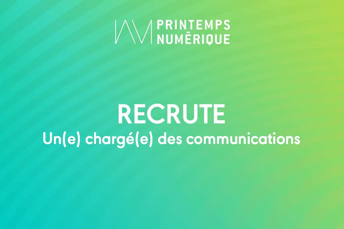Offre d'emploi : Chargé(e) des communications