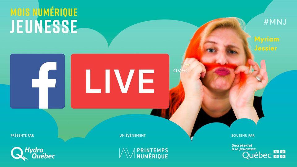 Mois Numérique Jeunesse : Facebook Live avec Myriam Jessier