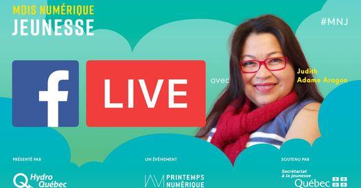 Mois Numérique Jeunesse : Facebook Live avec Judith Adame Aragon