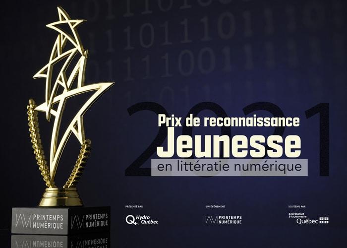 Appel de candidatures : Prix de reconnaissance Jeunesse en littératie numérique 2021