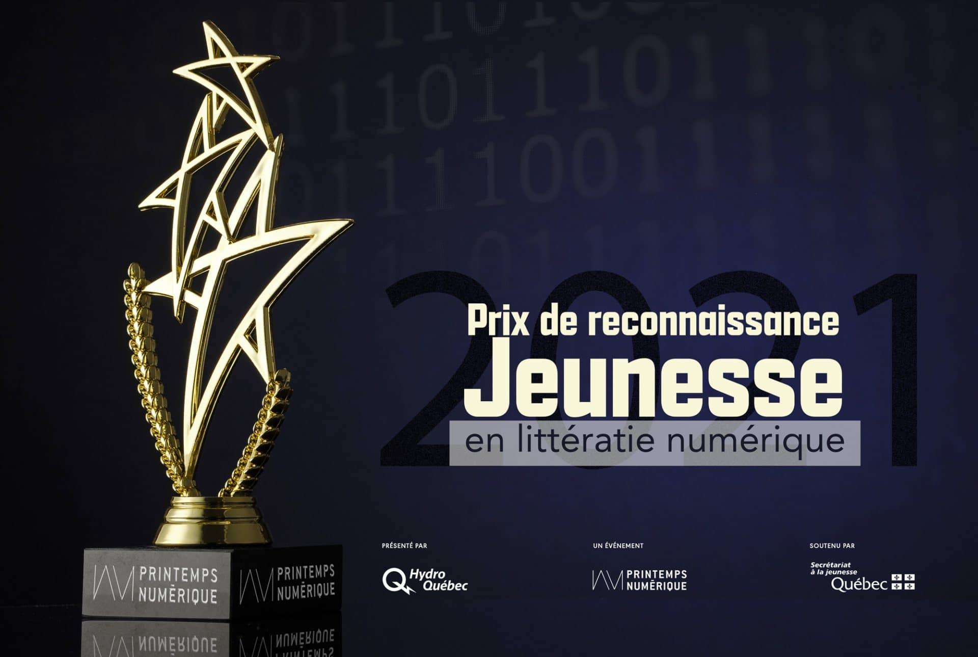 Prix de reconnaissance Jeunesse en littératie numérique